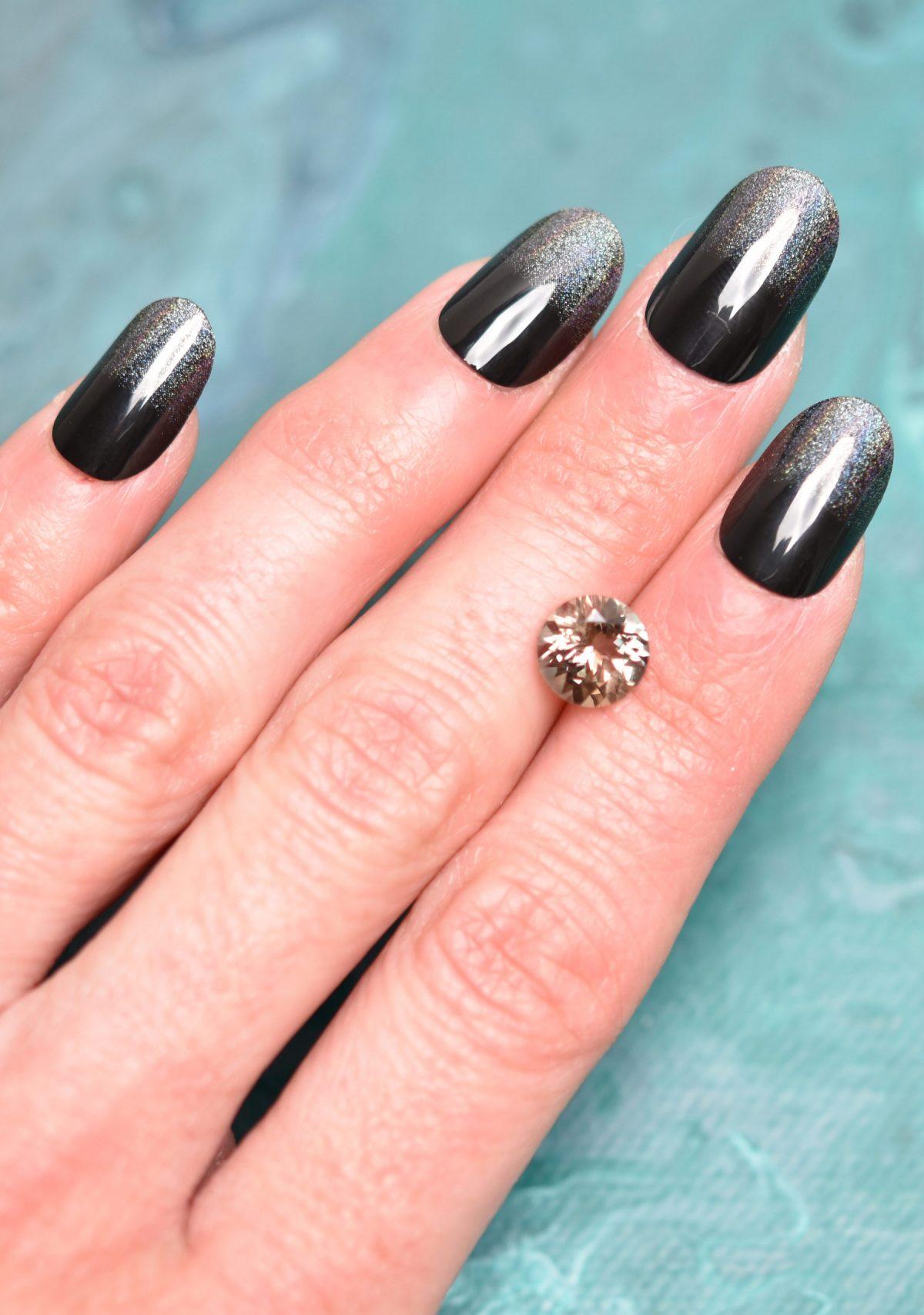Round Desert Color Sunston Gemstone for Custom Engagement Ring