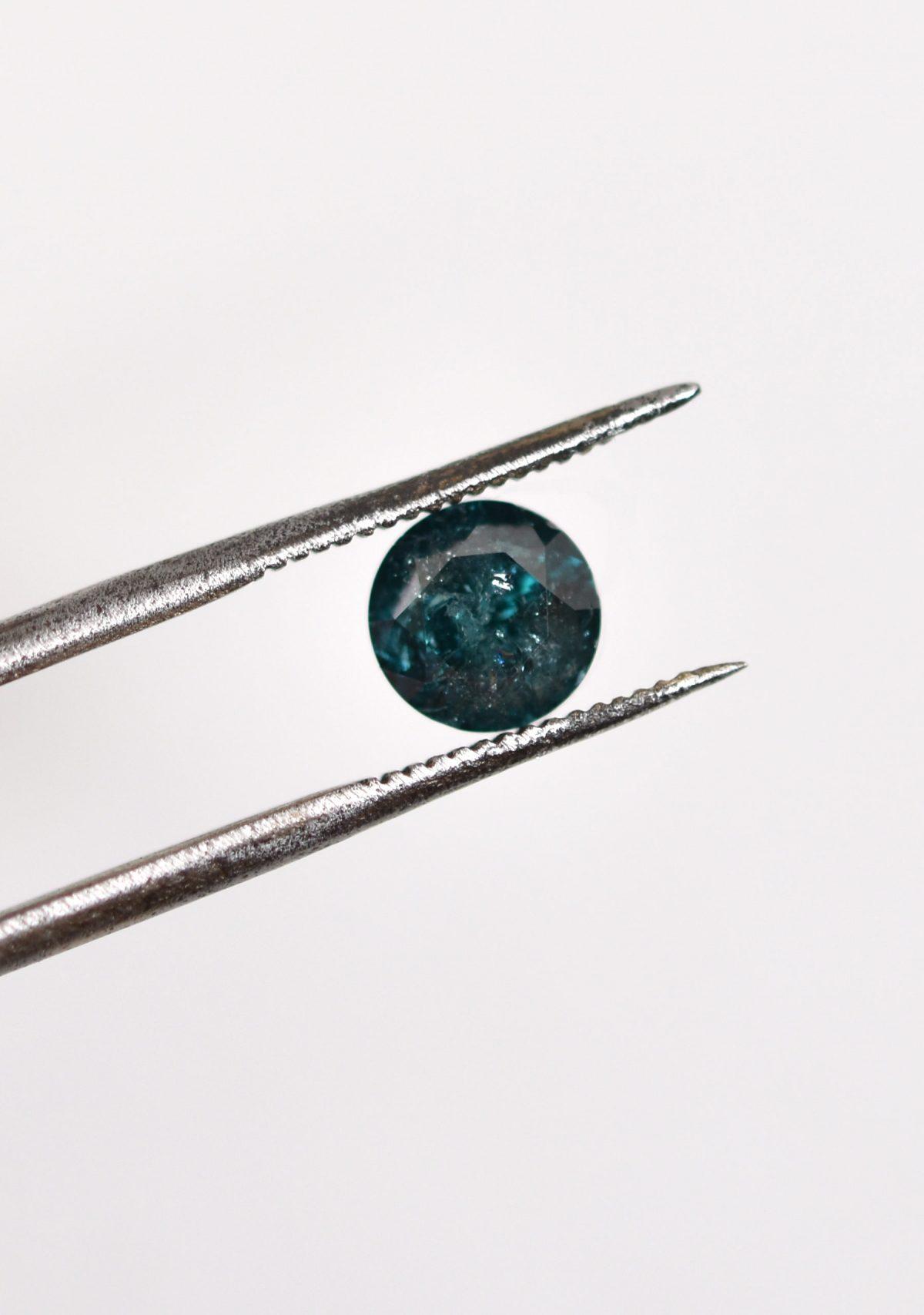 Blue Diamond Salt and Pepper Diamond for Custom Engagement Ring