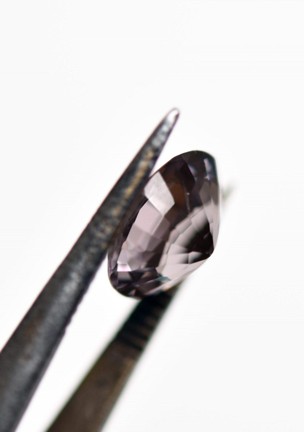 Purple Grey Spinel Gemstone for Custom Engagement Ring