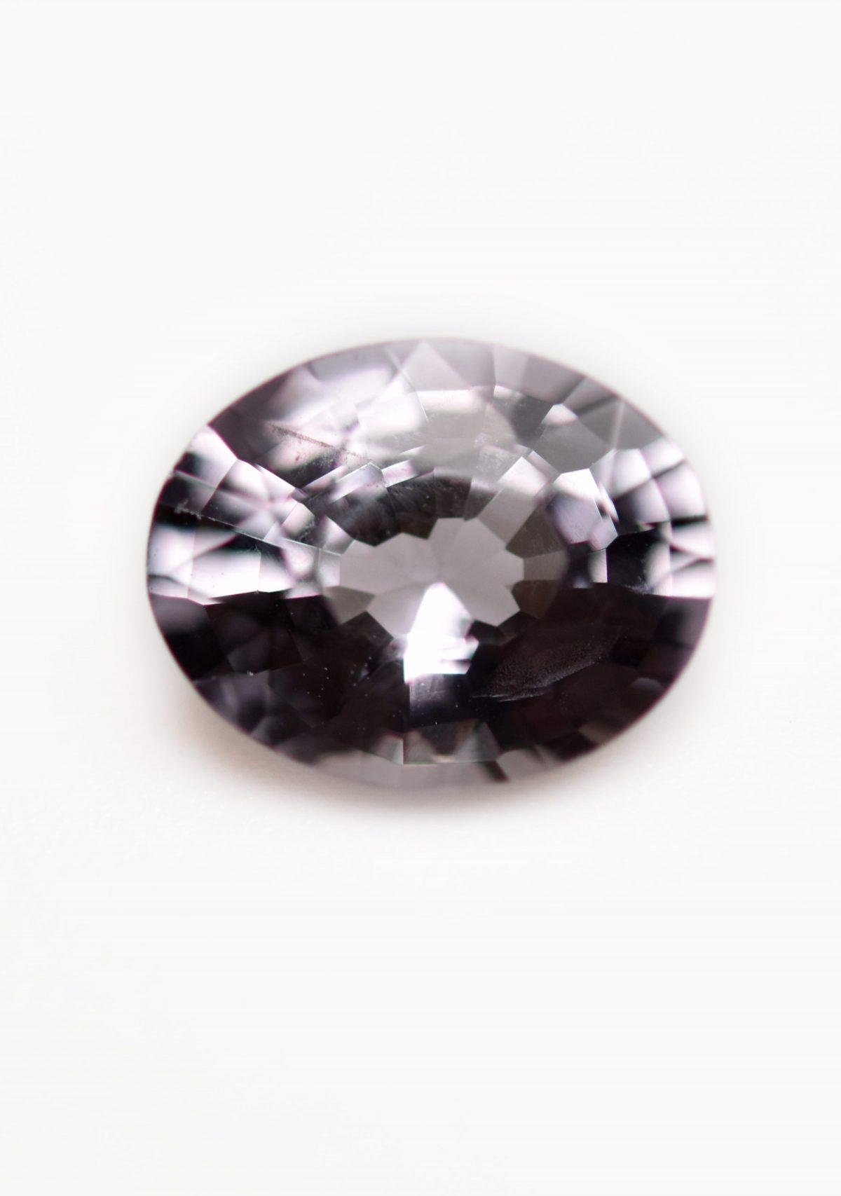 Grey Spinel Gemstone for Custom Engagement Ring