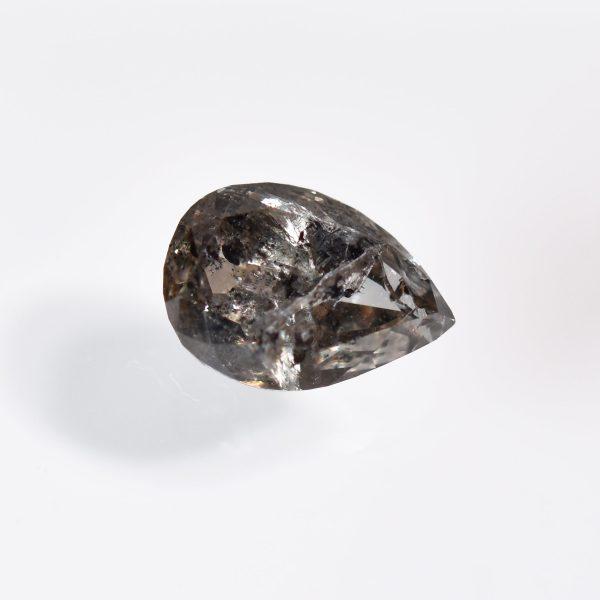 Pear Shape Salt and Pepper Diamond for Custom Engagement Ring