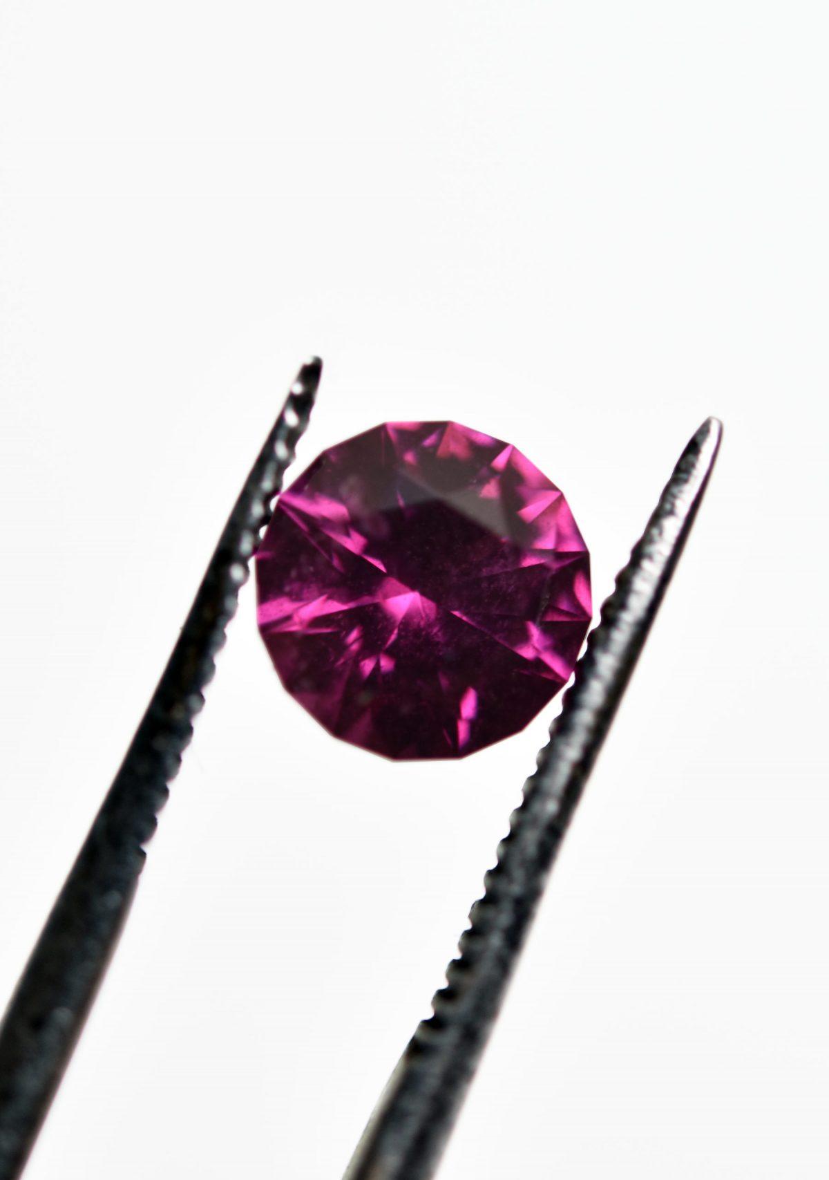 Round Cut Purple Garnet for Custom Engagement Ring