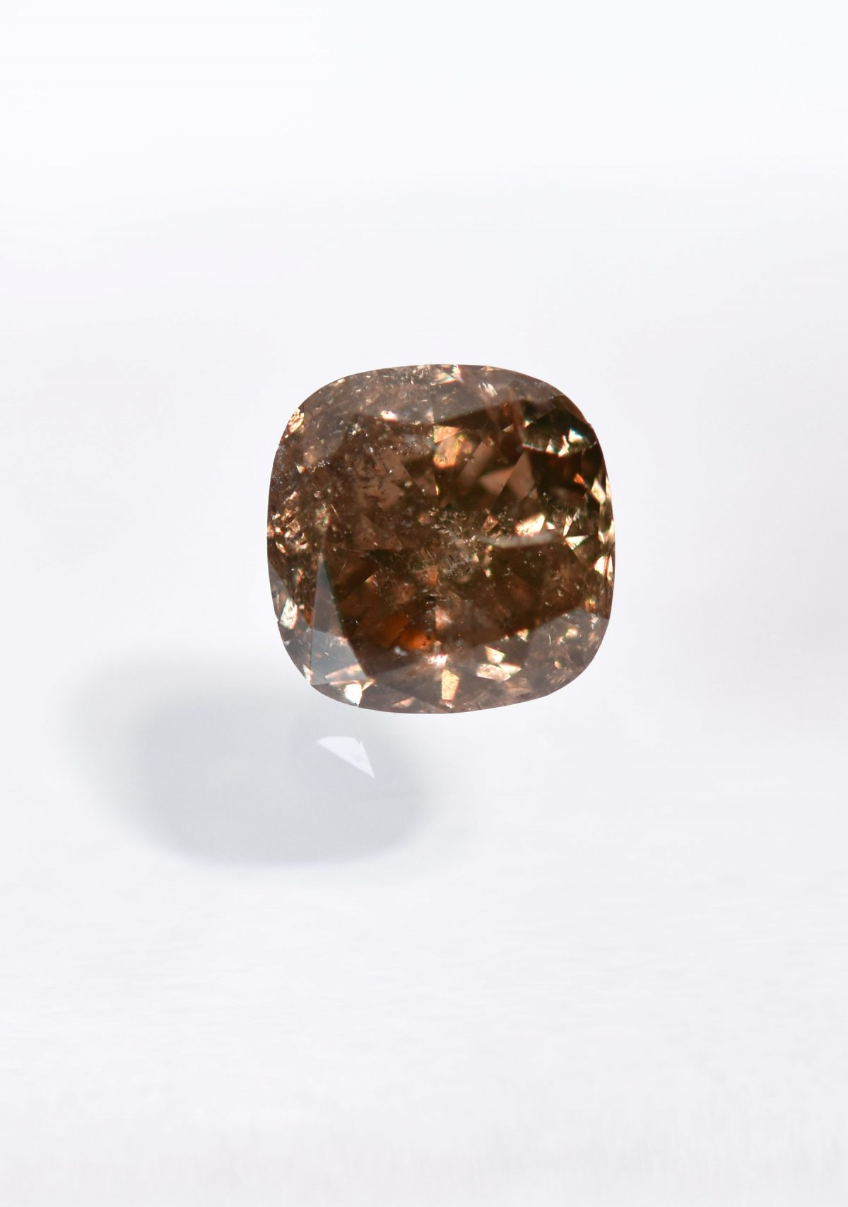 Cushion Cut Champange Diamond for Custom Engagement Ring