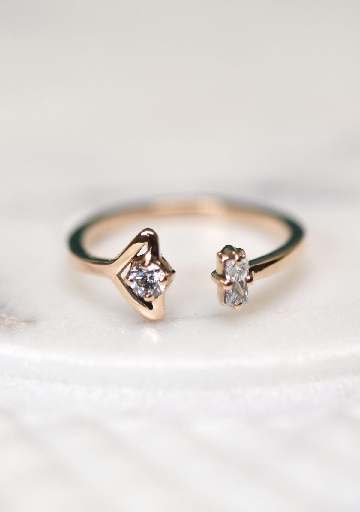 10k Gold Diamond Stacking Ring