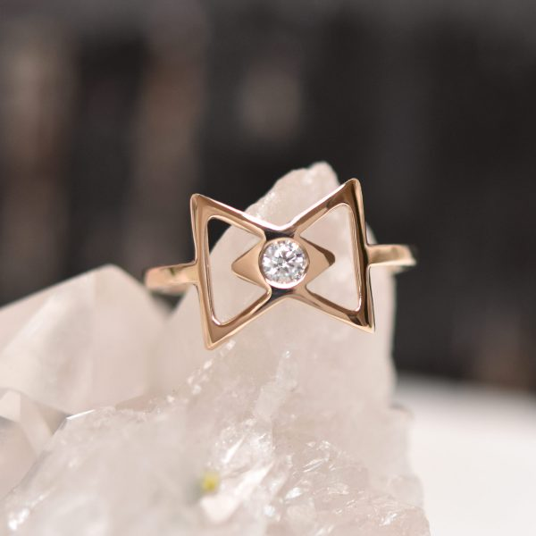 Dainty 10k Gold Diamond Ring