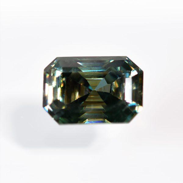 Emerald Cut Green Moissanite for Custom Engagement Ring