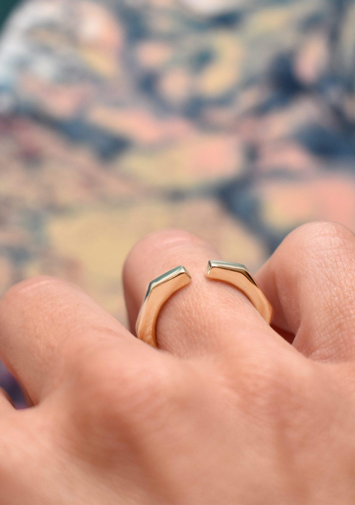 Geometric 10k Gold Ring