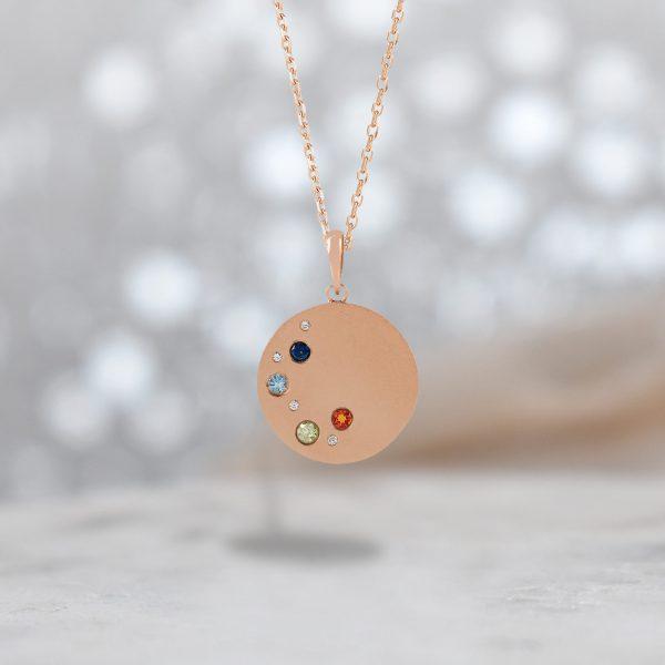 eeva family birthstone necklace