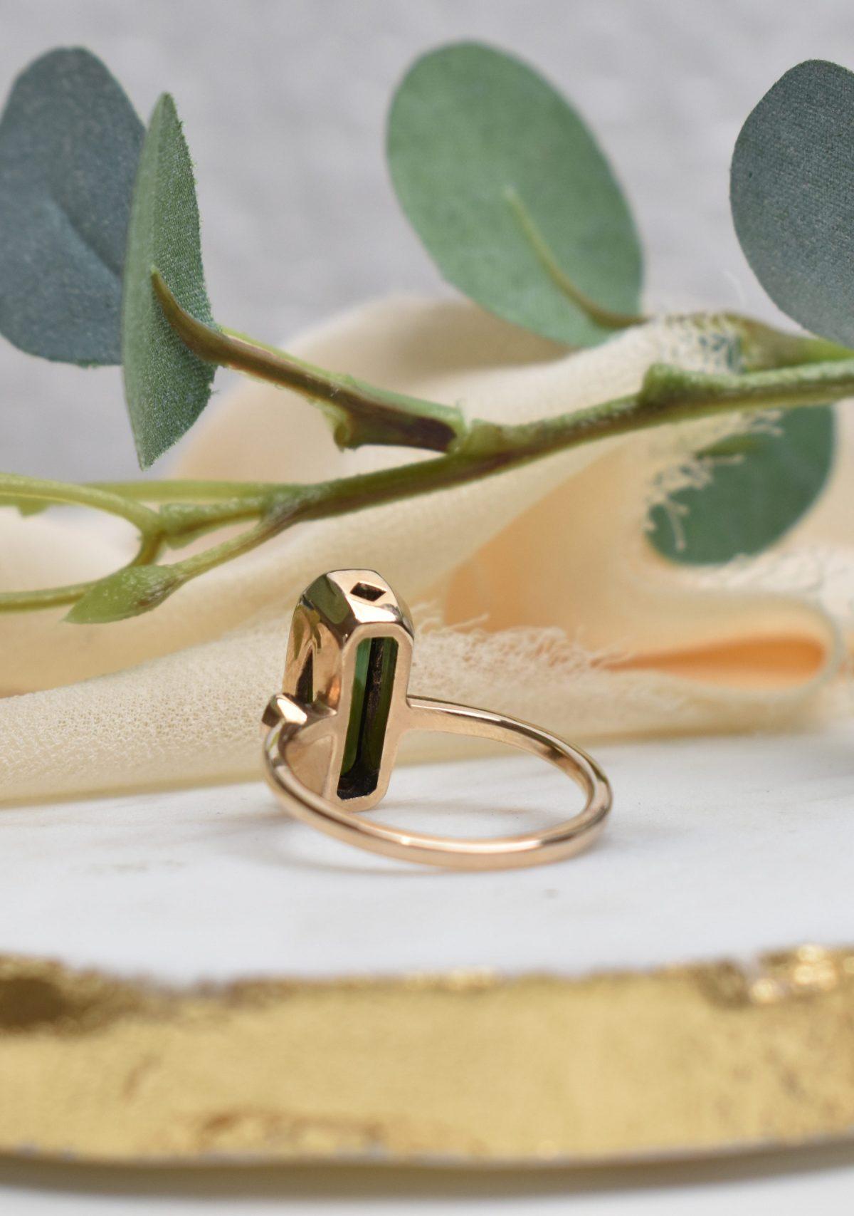 Saint K Ivy Green Tourmaline and Diamond Ring