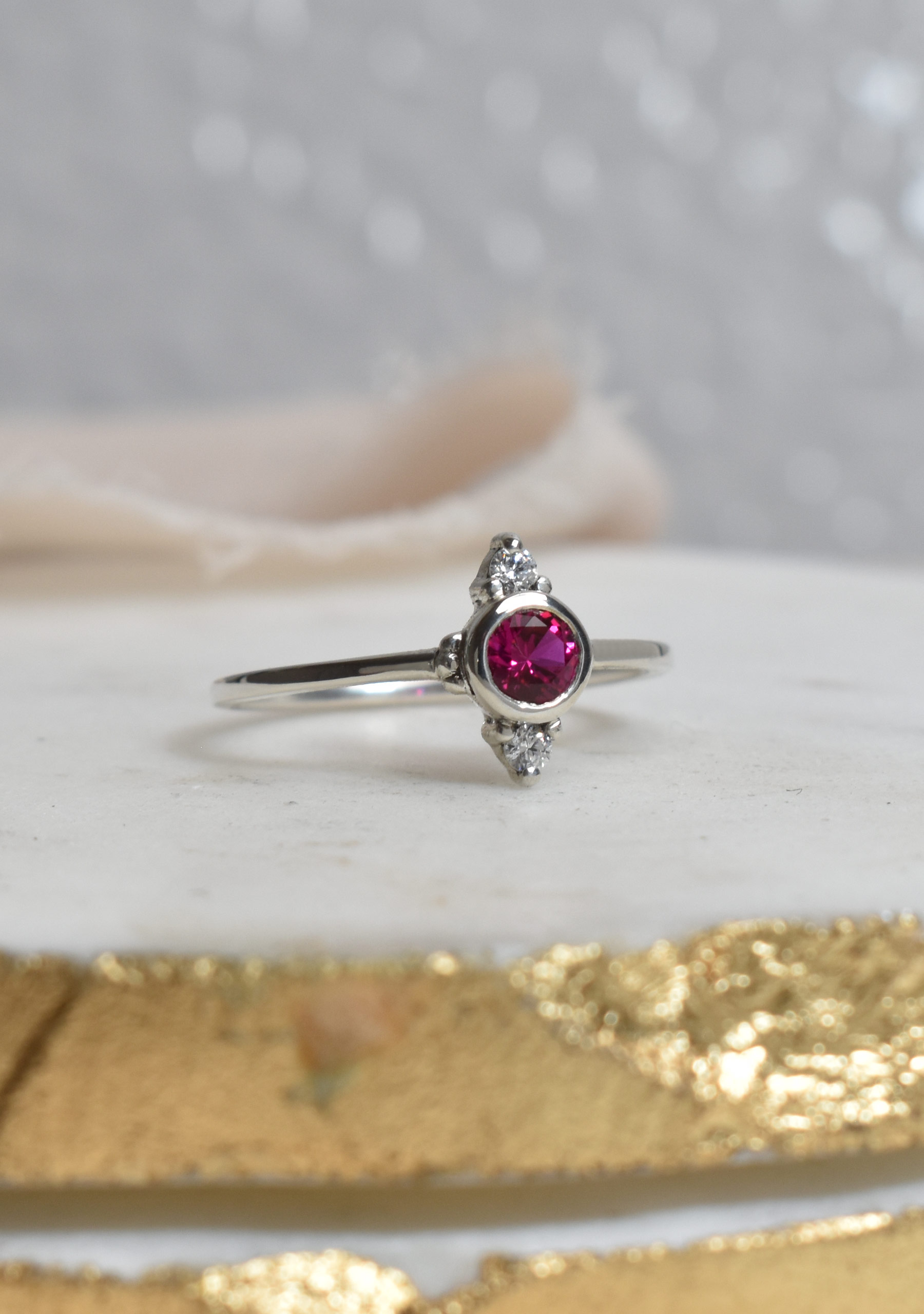 Saint K Ruby and Diamond Ring
