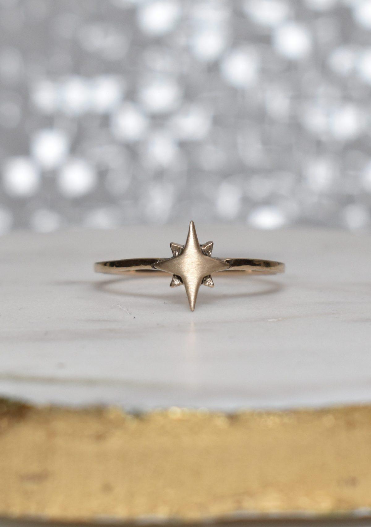 Saint K Celestia Gold Star Ring