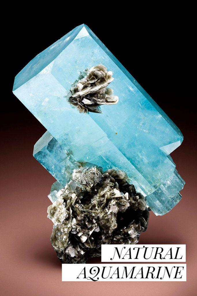 naturally found aquamarine